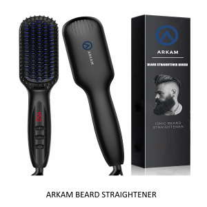arkam beard straightener brush