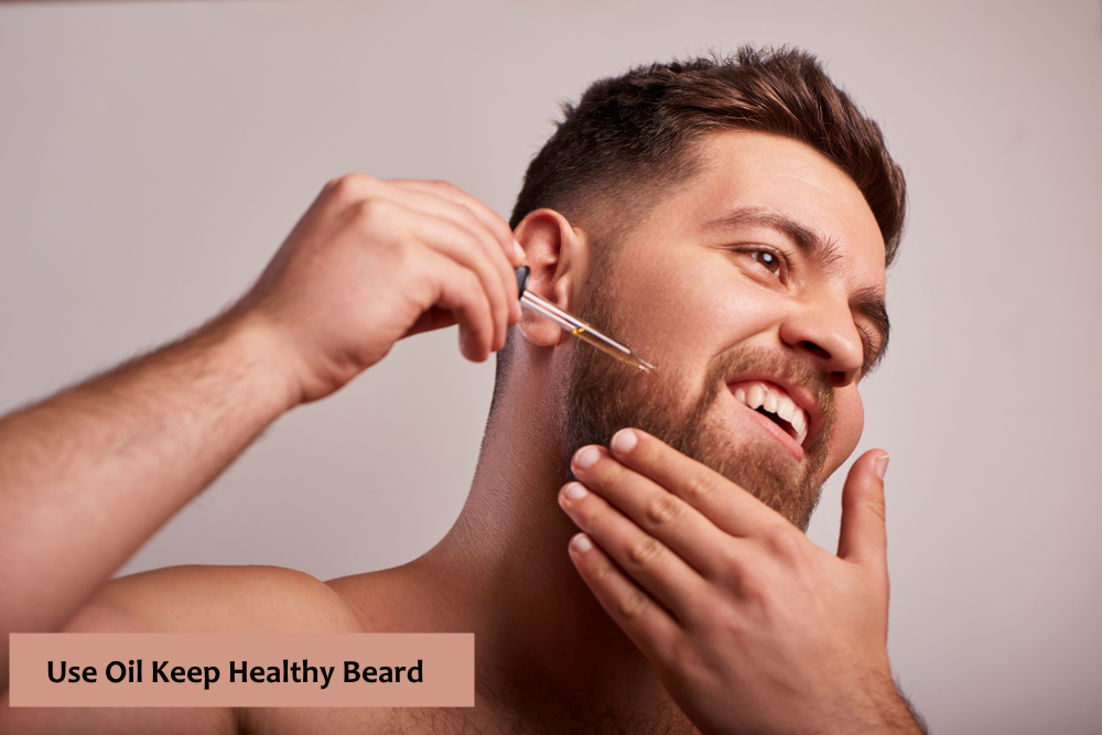 oil beard and make it healthy
